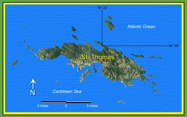 Smiling Lizard Research St Thomas Virgin Islands Map - Map st thomas us virgin islands