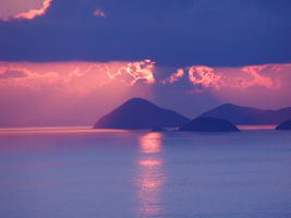 Sunrise on the summer solstice viewed from St. Thomas, U.S. Virgin Islands.